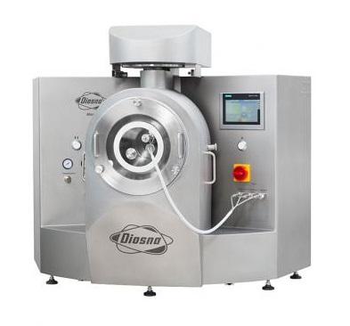 PPS a/s R&D desktop tablet coater from Diosna