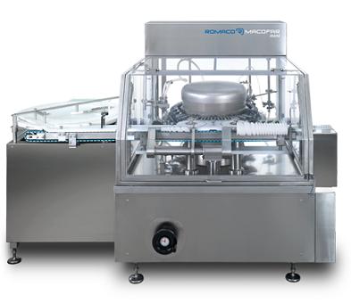 PPS A/S vask og rengøring - roterende vaskemaskine til hætteglas og ampuller fra Romaco Macofar